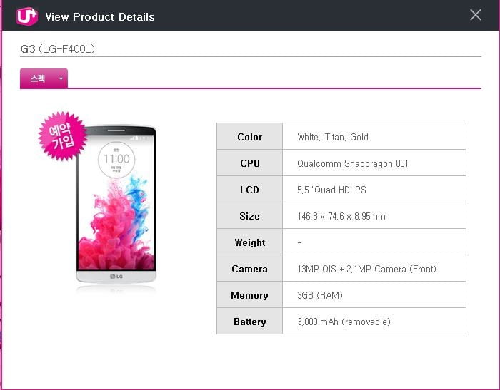 New LG F400 Cell Phone spotted online