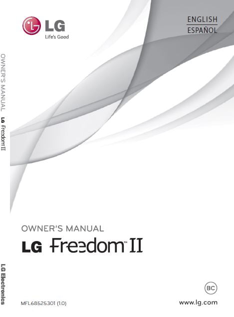 U.S. Cellular LG freedom 2 UN280 user manual / Guide