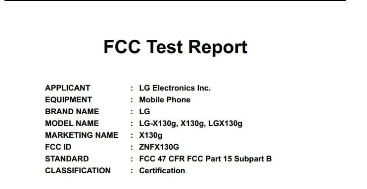 LG X137 gets the FCC Approval