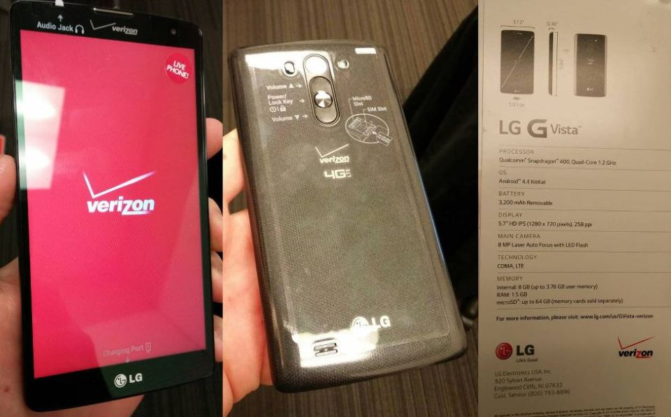 LG G Vista VS880 Release Date Set for July 31 on Verizon - My LG