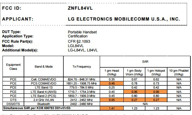 LG L84VL for Tracfone approved by the FCC – My LG Cell Phones