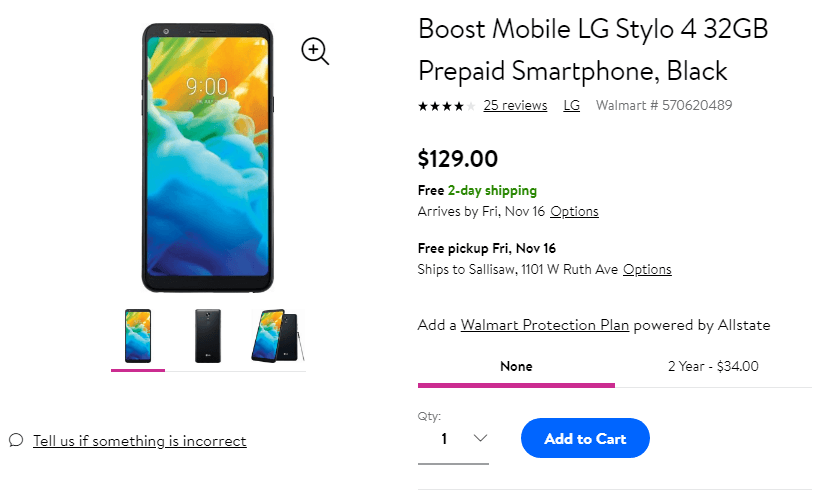 Deal: Boost Mobile LG Stylo 4 is just $129 00 at walmart