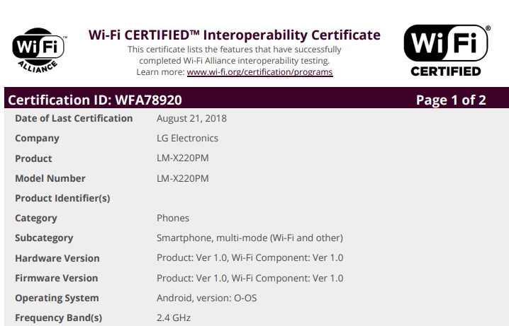LG Tribute Empire X220PM for Sprint Approved by the FCC - My LG Cell