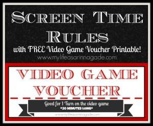 screen time rules via my life as a rinnagade