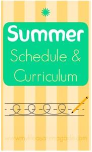 Summer Schedule & Curriculum via My Life as a Rinnagade