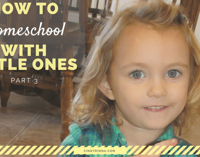How to Homeschool with Little Ones: Part 3