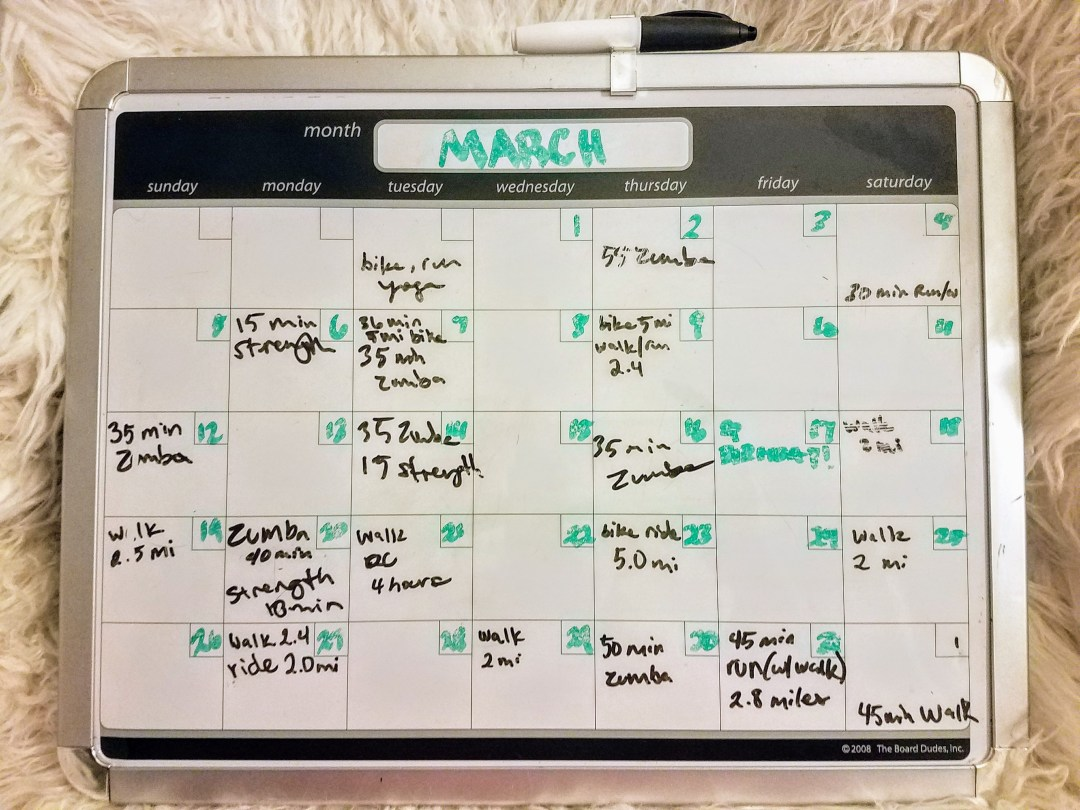 March Workout Recap - April Goals