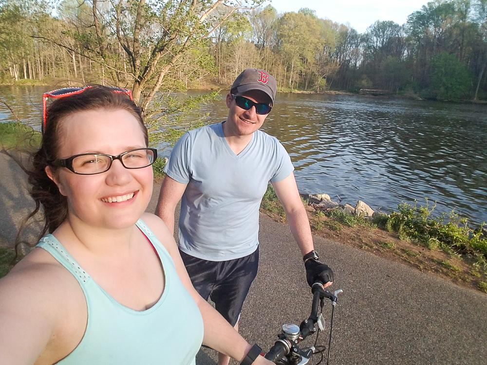 bike ride around Lake Elkhorn, Columbia, Maryland