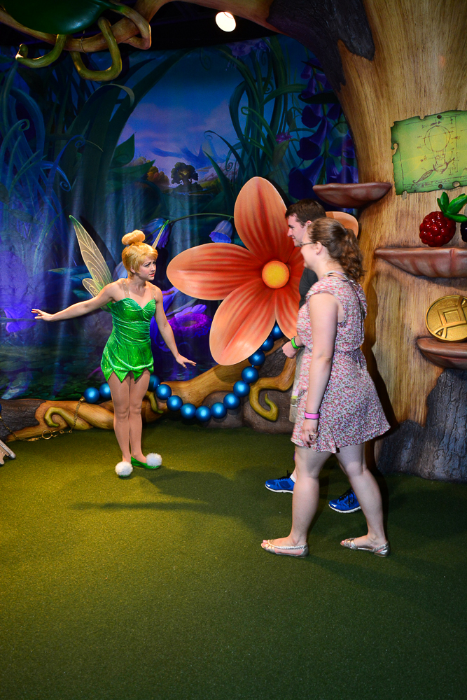 Meeting Tinker Bell at the Magic Kingdom