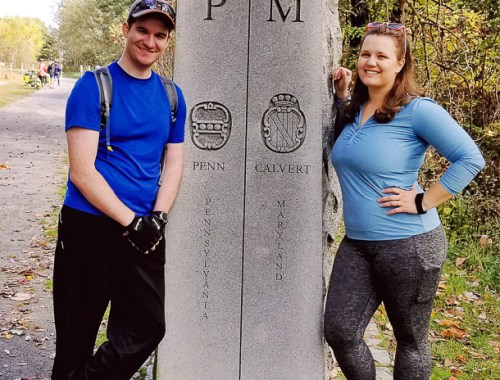 Mason Dixon Line- Maryland/Pennsylvania State Line on the GAP trail