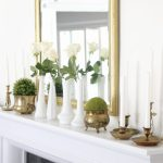 Elegant Summer Mantel in the Dining Room