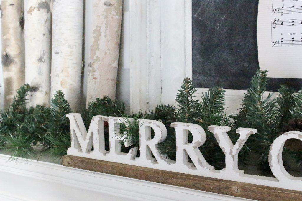 Decorate Your Mantel~ Rustic Christmas Mantel