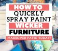 How To Quickly Paint Wicker Furniture