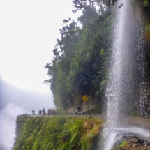 THE death road waterfall