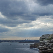 Manly north head sun rays