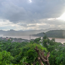 LP view city Mekong rain