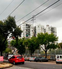 Blick auf Wohnanlage in Belgrano