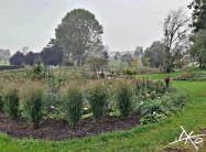 Landschaft mit weitem Blick in den Gärten der Welt