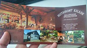 Bulgarische Spezilitäten in Beelitz im Balkan Restaurant