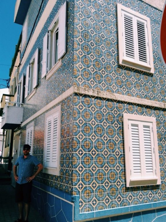 colourful tiled house of Figuiera da Foz in one of Portugals best beach resorts