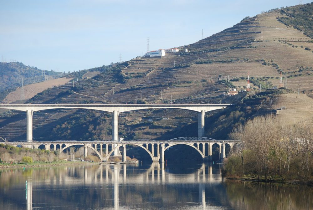 Bridges near Regua in the Duoro Valley