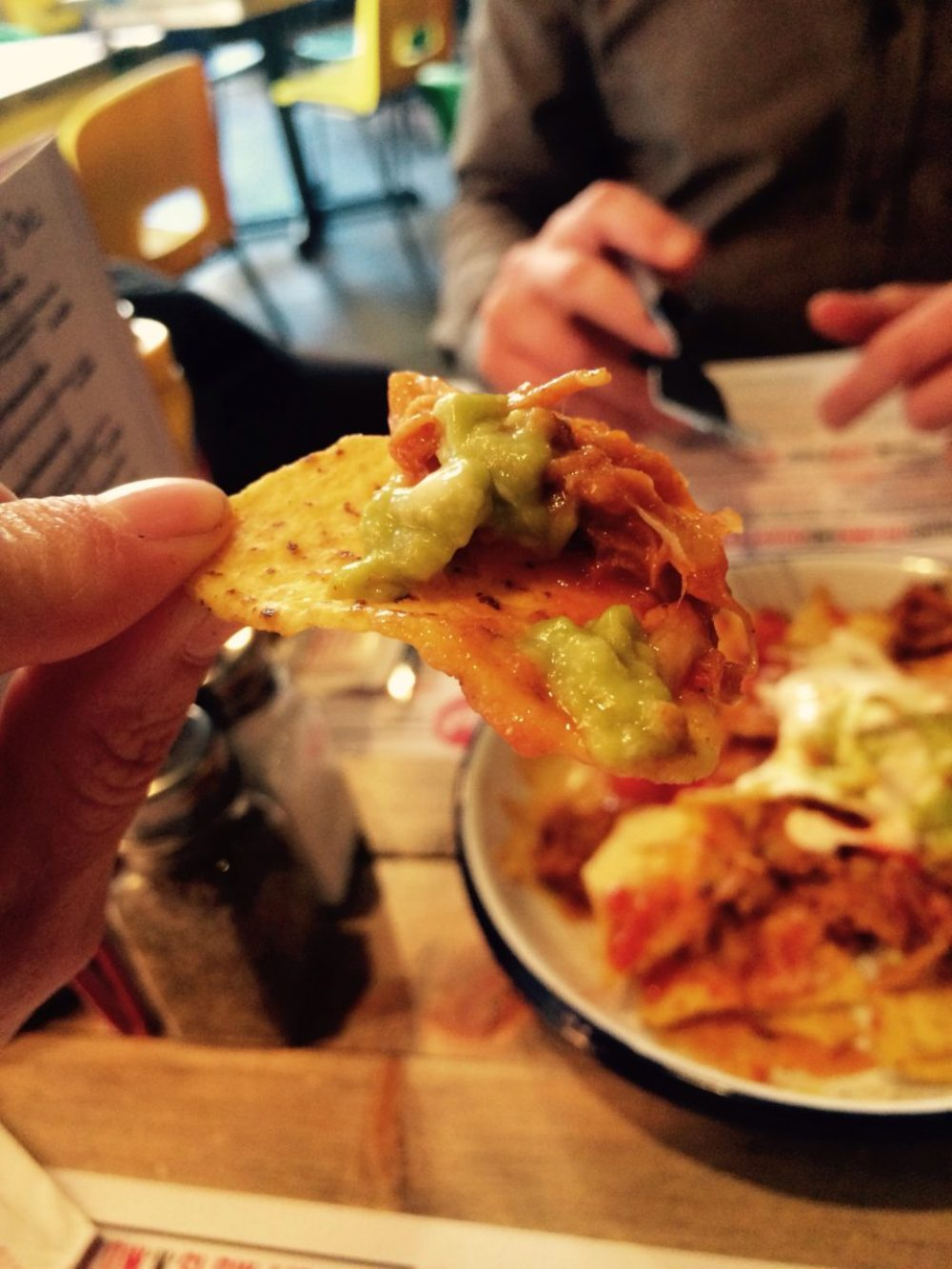 Nacho's and Guacamole at RUB Smokehouse Restaurant Nottingham