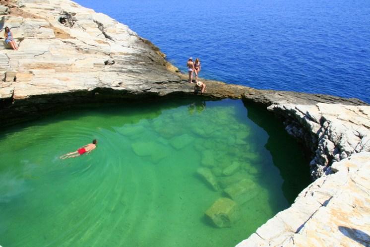 Giola's natural pool - a hidden gem of Thassos