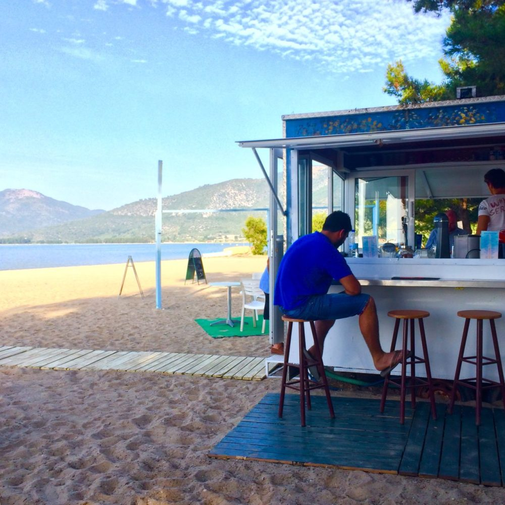 There are beach bars all over the coast in Thassos, it's hard to say which are the best beach bars as they all have great views and a great atmosphere