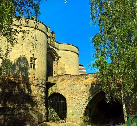 Nottingham Castle walls and building - a must see on a weekend break here