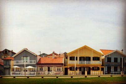 Costa Nova, Portugal Striped Beach Houses