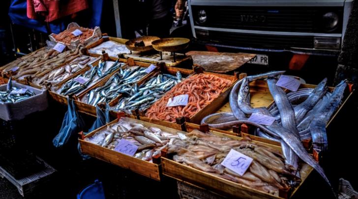 Fish at a food market - London