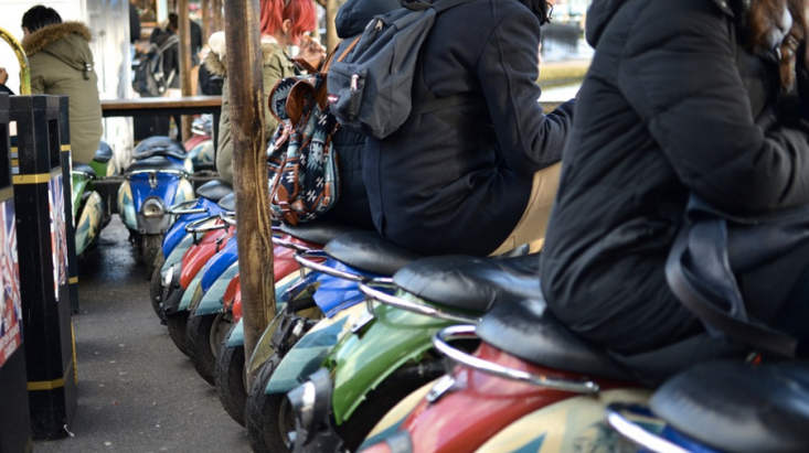 Park your bottom and eat lunch at Camden Market, London
