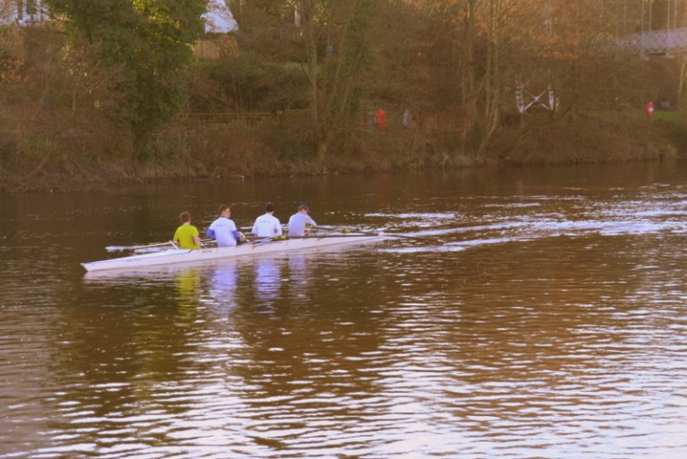 Watch the boat racing and practicing along the river Dee in Chester