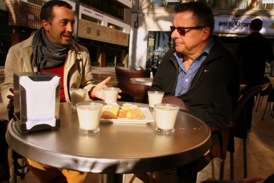 Horchata is a delicacy in Alicante - a drink made from a tuba root, sweet and milky. We discovered it's history on our Alicante walking tour about food.
