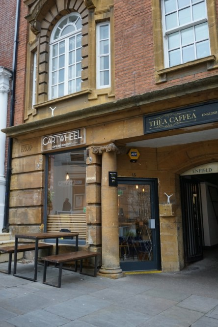 which is the coolest coffee shop in Nottingham? arguably it is cartwheel coffee. it is also one of the best lunch options in Nottingham too.