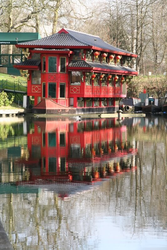 The Feng Shang floating Chinese restaurant on the Regents Canal is a great sight to behold - a landmark at the end of the best short walk for kids in london