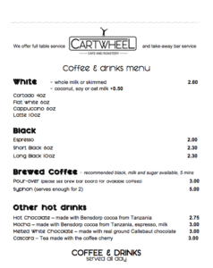 The coffee at Cartwheel coffee is excellent value for money - one of my most favourite coffee shops in Nottingham. But they make some of the best food in Nottingham city centre too.