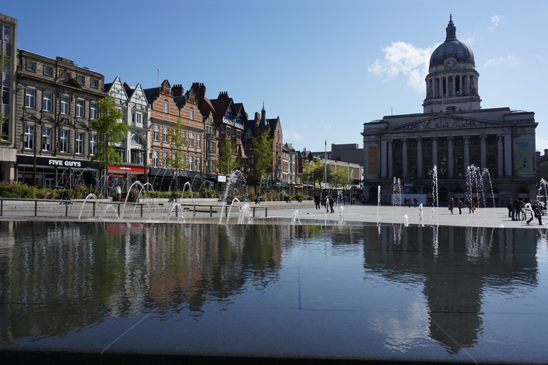 slab square is a good place to start your walking tour of Nottingham