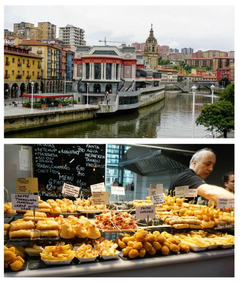 Mercado de la Ribera is one of the best places to eat with kids in Bilbao