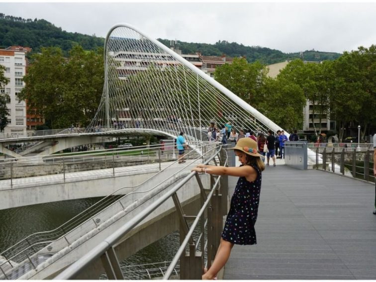 The zubizuri bridge in Bilbao is a famous landmark, a sight worth seeing