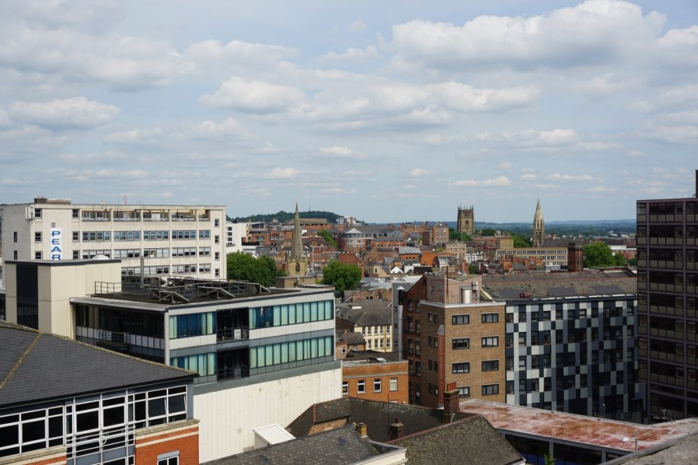 A great view of nottingham on a free walking tour of the city