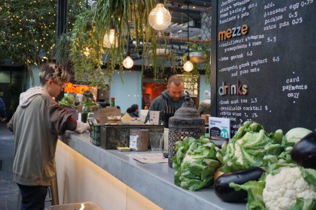 lunch Spitalfields market