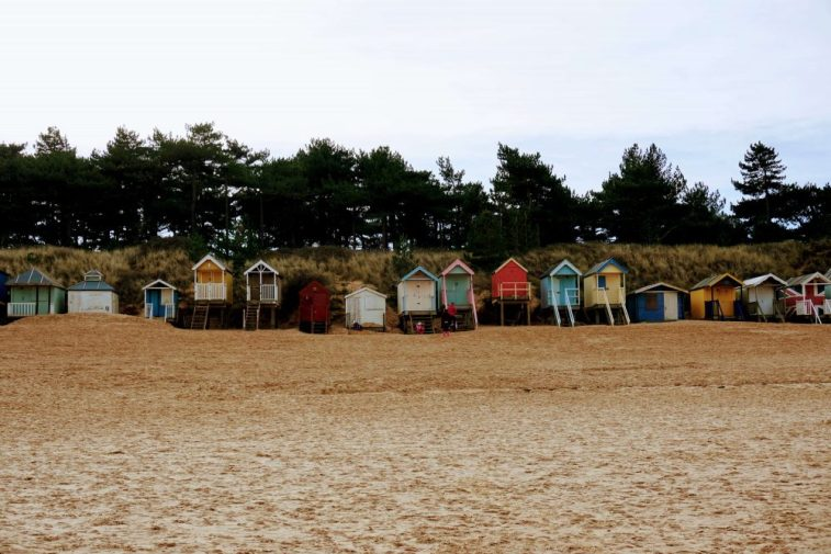 Wells next the sea has to be one of the best beaches in North Norfolk with its beautiful backdrop of colourful beach huts