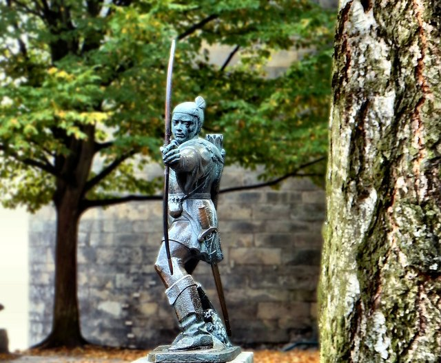One of the 'Must See's' when you visit Nottingha - the Robin Hood Statue