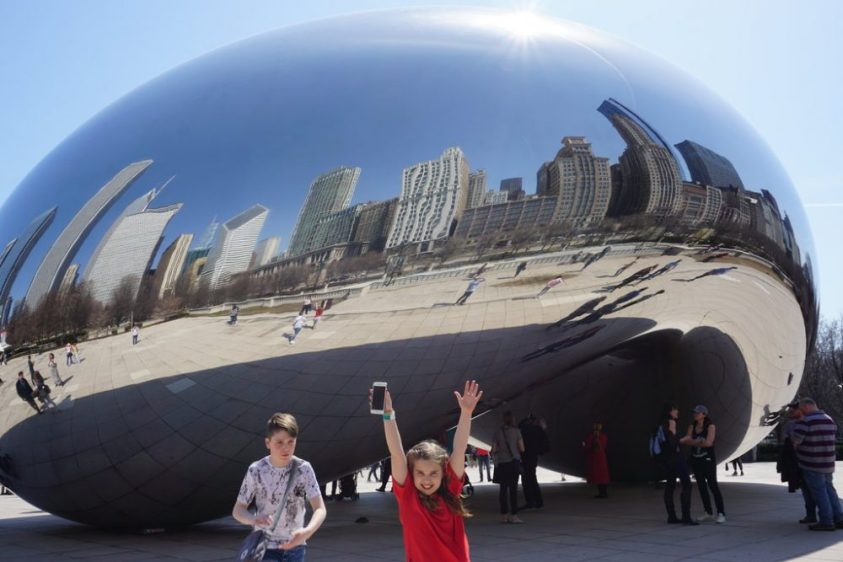 The bean, or cloudgate, is one of the top things to see in Chicago - a very popular tourist spot