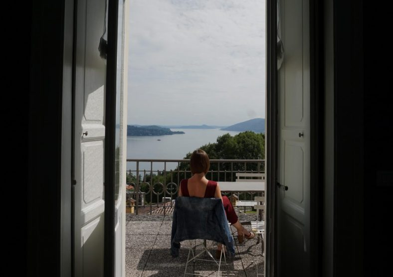 hotel with a lake view Maggiore
