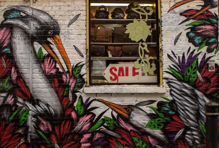 Brick Lane in Shoreditch is the best area to visit for street art in London