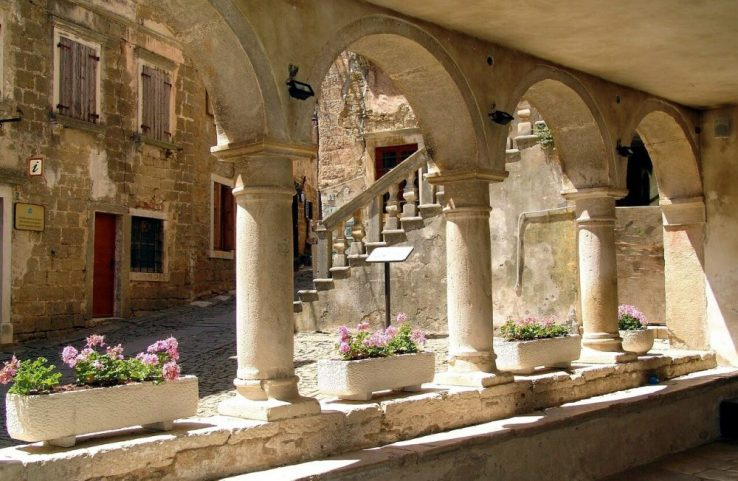 Medieval town of Groznjan in Istria, Croatia