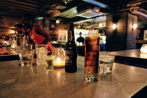 a secret basement bar called the Mayor of scaredy cat town in spitalfields