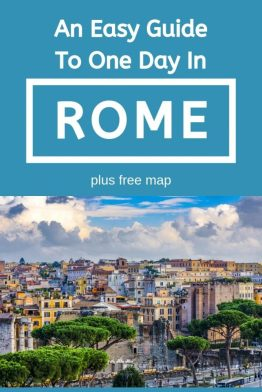 It is possible to see Rome in one day! Follow our itinerary guide (plus free map) to make the most of your one day in Rome. Take in the main sights, tips on how to avoid the queues and the best places to eat and stay. #rome #italy #europe #onedayinrome